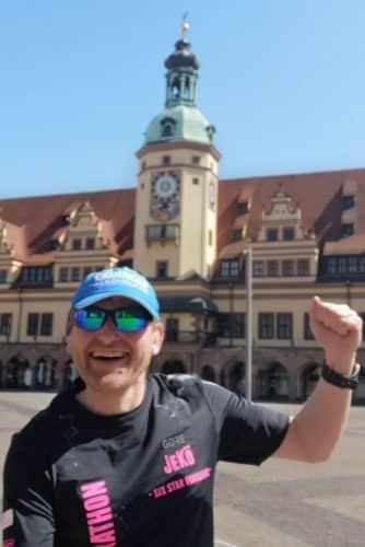 Im April auf dem Leipziger Marktplatz. Foto: privat