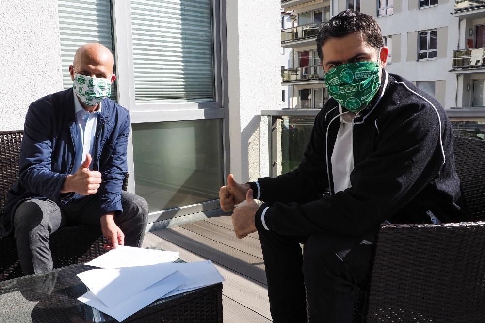 LVZ-Post Geschäftsführer Hans-Peter Petto und DHfK-Geschäftsführer Karsten Günther. Quelle: SC DHfK