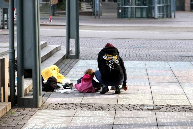 Spontane Hilfe von einer kleinen Familie. Foto: L-IZ.de
