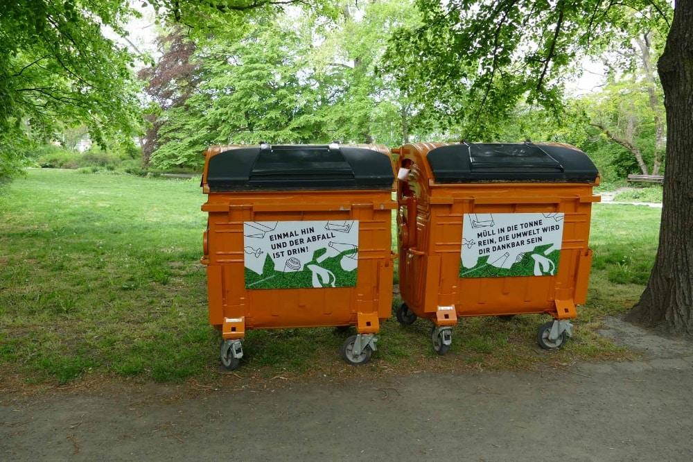 Parkcontainer im Clara-Zetkin-Park. Foto: Stadtreinigung Leipzig