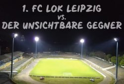In Probstheida brannte wieder Licht. Foto: Video-Screenshot/ 1. FC Lok