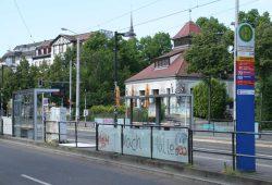 """""""Alle nach Halle"""" am Connewitzer Kreuz. Foto: Ralf Julke"""