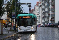 Elektrobus im Leipziger Testbetrieb. Foto: Ralf Julke