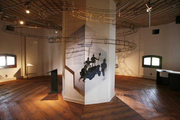 """Neuer Ausstellungsraum: Kanonenkugelbahn im neuen Ausstellungsraum """"Festung Torgau"""". Foto: Landratsamt Nordsachsen/Schneider"""