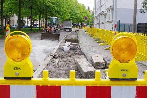 Gregor-Fuchs-Straße: Aus Radweg wird Parkplatz? Foto: Bürgerverein Anger-Crottendorf e.V.