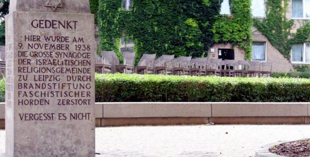 Gedenkstein in der Gottschedstraße. Foto: LZ