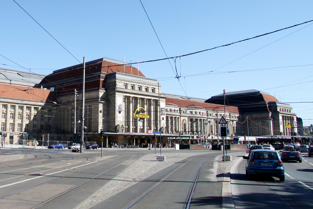 Rund um den Hauptbahnhof könnte es am Freitag eine Sperrzone geben. Foto: L-IZ.de