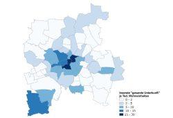 Verteilung der angebotenen Ferienwohnungen im Stadtgebiet. Grafik: Stadt Leipzig