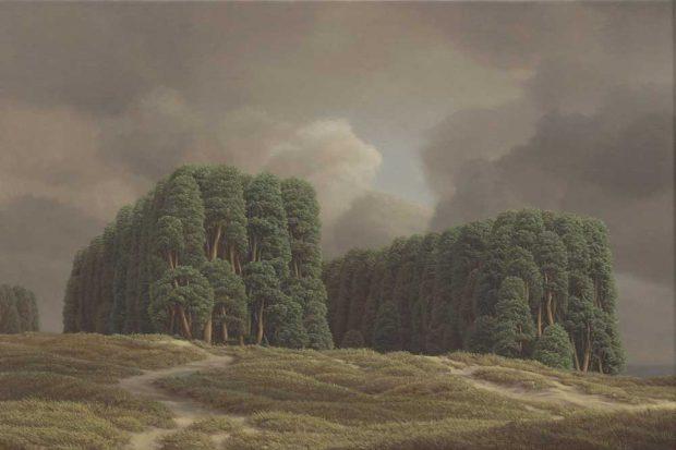 Markus Krüger: Doppelwald (2020). Foto: Galerie Schwind