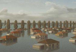 Markus Krüger: Überschwemmte Landschaft (2019). Foto: Galerie Schwind