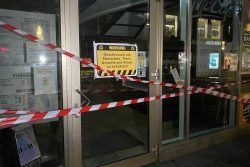 Abgesperrte McDonald's-Filiale. Foto: Animal Rebellion Leipzig