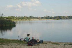 Am Nordstrand des Cospudener Sees. Foto: Ralf Julke