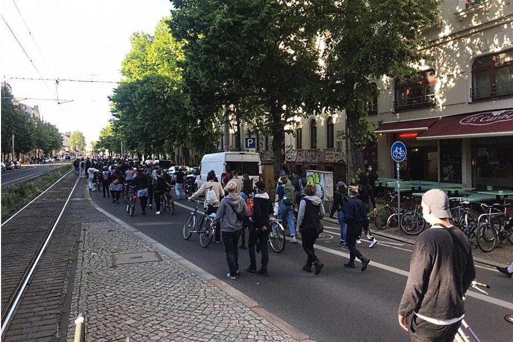 """Feministischer Aktionstag, """"Das Private bleibt Politisch"""" Foto:L-IZ"""
