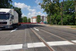Letzte Arbeiten auf der Plagwitzer Brücke. Foto: Marko Hofmann
