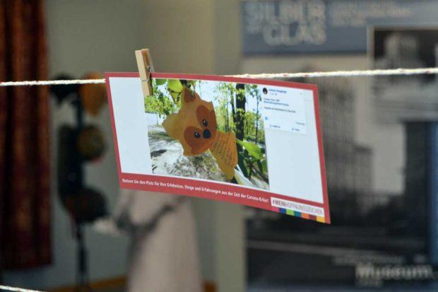 Postkarte als Hoffnungszeichen. Foto: Stadtgeschichtliches Museum Leipzig