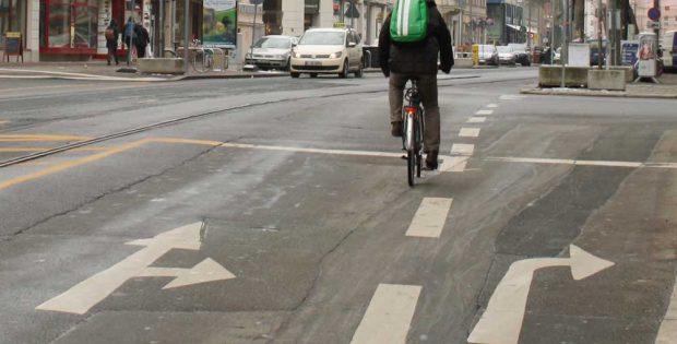 Radfahrer auf der KarLi. Archivfoto: Ralf Julke