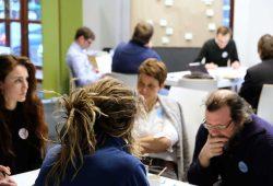 Teilnehmer zum Zukunftsworkshop H2-Chancendialog. Foto: Fraunhofer IAO