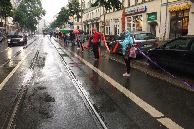 14:40 Uhr auf der Karli: Das Band ist geschlossen. Foto: L-IZ.de