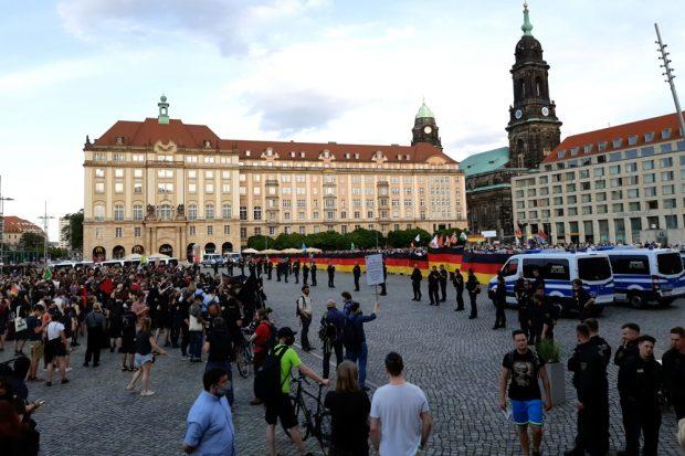 Der Dresdner Altmarkt am 15. Juni 2020 im Überblick. Foto: Luise Mosig