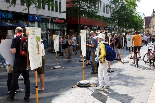 Aktion am 12. Juni 2020 in der Grimmaischen Straße. Foto: L-IZ.de