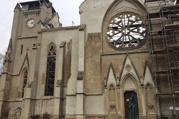 Die Kirchenruine in Wachau. Foto: L-IZ.de