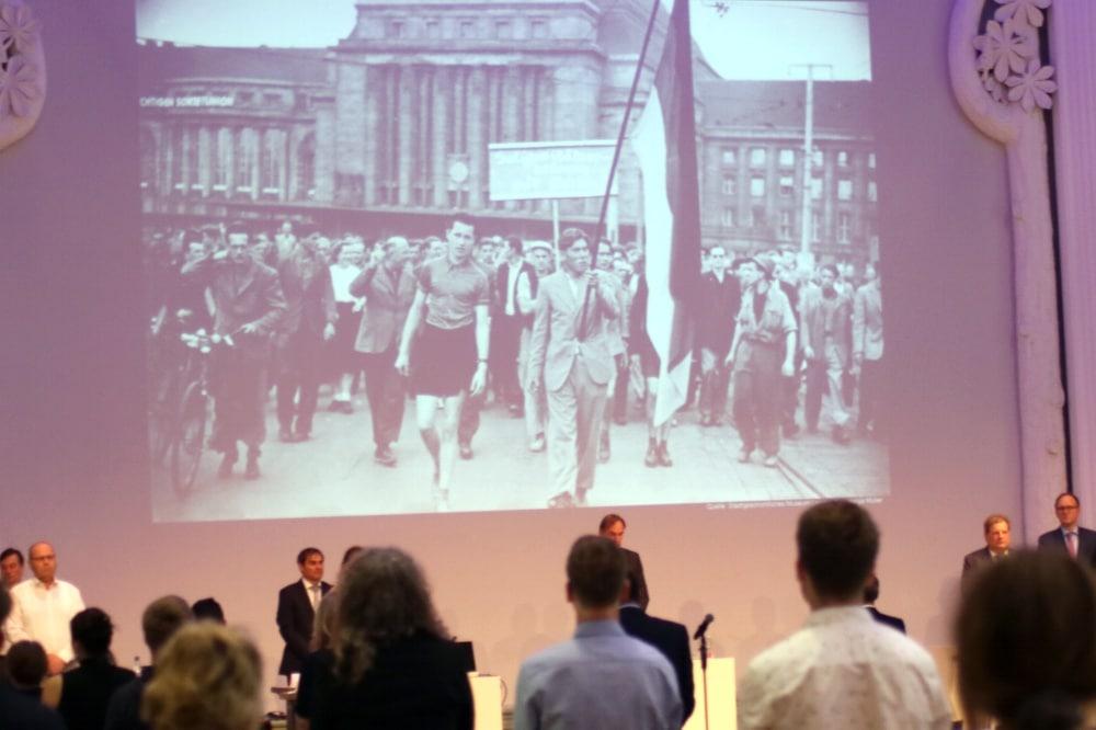 Gedenken an den 17. Juni 1953 im Stadtrat am 17. Juni 2020. Foto: L-IZ.de