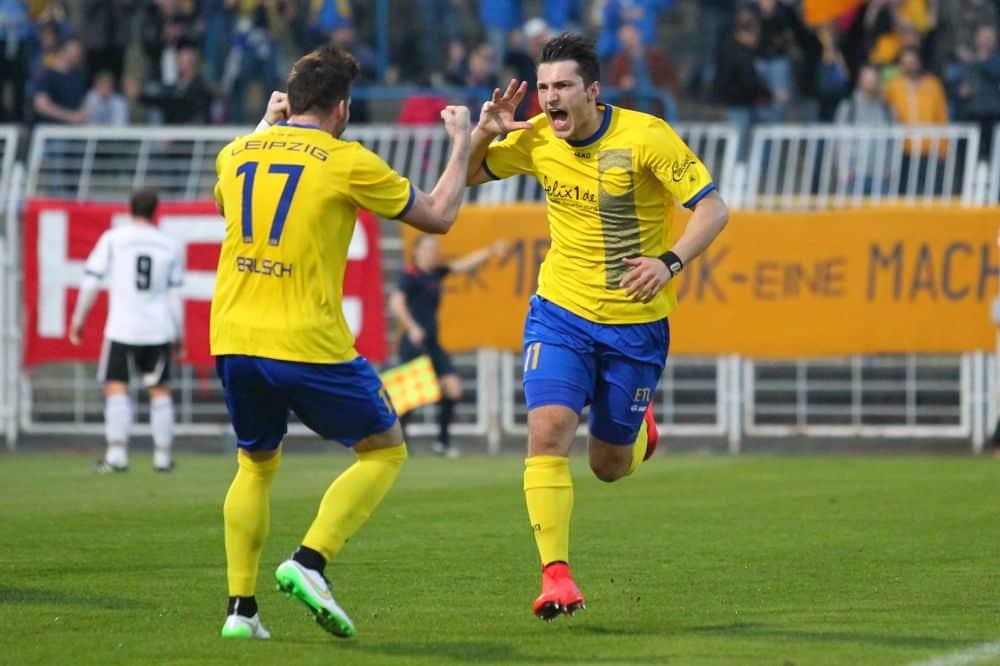 Gianluca Marzullo kickte in der Saison 2014/2015 für den 1. FC Lok Leipzig. Foto: Jan Kaefer (Archiv)