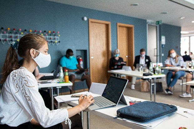 Schülervertreter erarbeiten Zukunftsvisionen für gute Schule in einer digitalen Welt. Foto: Torben Krauß (Bundesschülerkonferenz)