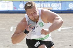 Dennis Lewke (SC DHfK) - der zweite Leipziger im Bunde - brachte es auf ordentliche 19,45 Meter. Foto: Jan Kaefer