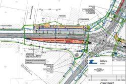 Die Haltestelle Antonienstraße in den Plänen zum Adler-Umbau. Grafik: Stadt Leipzig