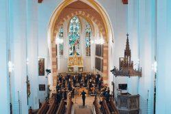 Das Sächsische Barockorchester probt in der Thomaskirche Leipzig für den Bach-Marathon. Foto: RONDEAU Production