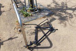 Manchmal wird nur ein Teil des Rades geklaut. Foto: Marko Hofmann