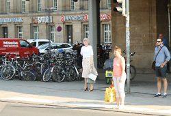 Fahrradhaufen vorm Hauptbahnhof Leipzig. Foto: Ralf Julke