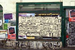 Wortmeldung in der Leipziger Südvorstadt. Foto: Ralf Julke