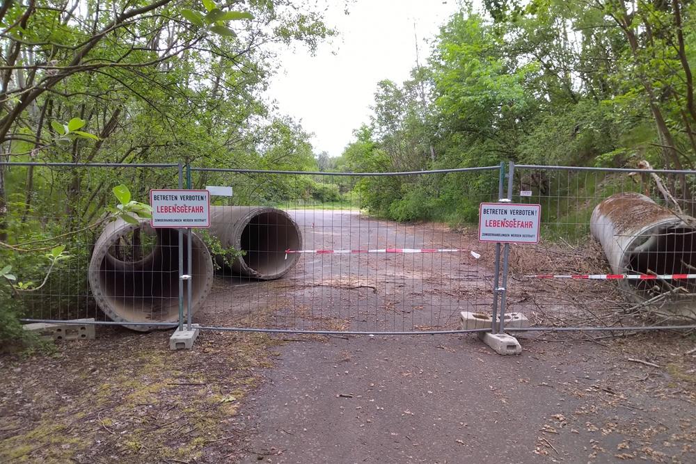 Abgesperrter Zugang zum Holzberg. Foto: Gunter Winkler