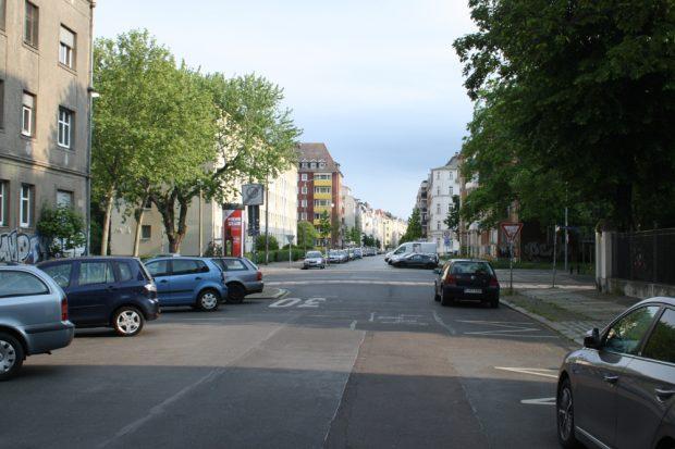 Kochstraße, Kreuzung Richard-Lehmann-Straße. Foto: Ralf Julke