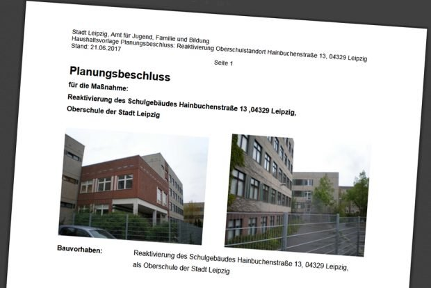 Der Planungsbeschluss von 2017. Cover: Stadt Leipzig