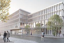 Erster Platz - Entwurf Fachgerichtszentrum Leipzig © Weinmiller Großmann Architekten
