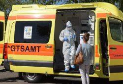 Das Gesundheitsmobil des Landkreises Nordsachsen im Einsatz. Foto: Landratsamt/Bley