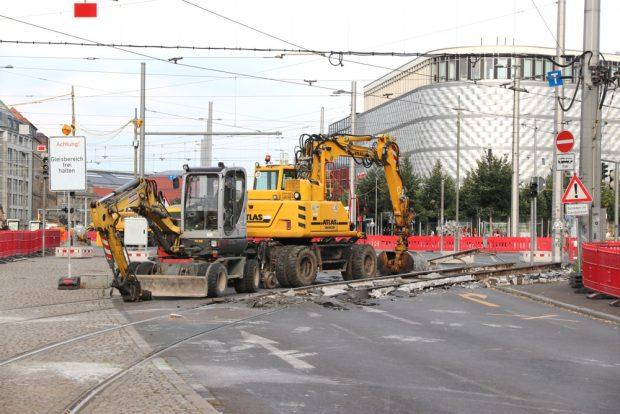 Der Goedelerring ist bis 30. August 2020 stadteinwärts dicht - danach die Gegenrichtung bis 31. Oktober in die Gegenrichtung. Foto: L-IZ.de