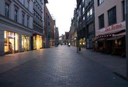 Die Leipziger Innenstadt auf dem Höhepunkt der Coronakrise im März. Foto: L-IZ.de