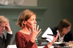 Juliane Nagel (Linke) am 8. Juli 2020 im Stadtrat. Foto: L-IZ.de