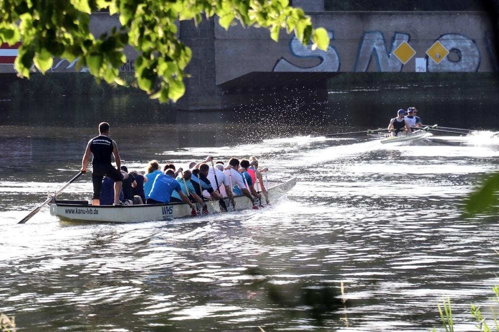 Rudern an der Klingerbrücke. Foto: L-IZ