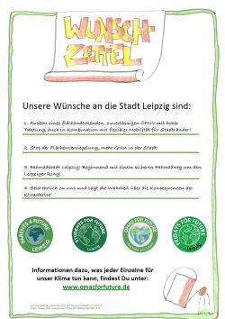 """Der Wunschzettel von den """"Omas for Future"""" für den Leipziger OBM. Foto: Screen des PDF OfFDer Wunschzettel von den """"Omas for Future"""" für den Leipziger OBM. Foto: Screen des PDF OfF"""