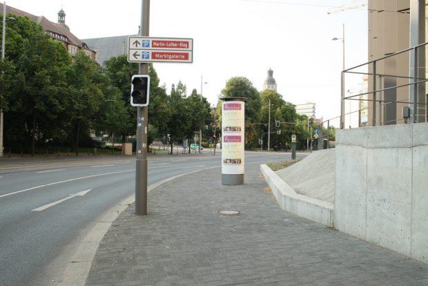 Dittrichring: Hier soll jetzt endlich ein Radstreifen auf die Fahrbahn. Foto: Ralf Julke