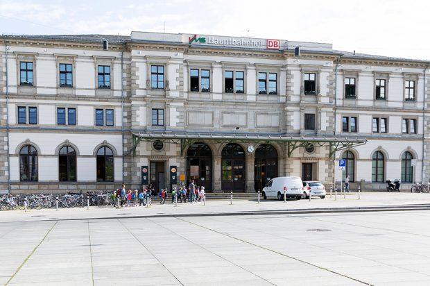 Blick auf den Chemnitzer Hauptbahnhof (Juli 2019). Foto: DB Netz AG