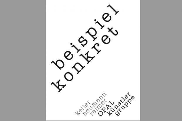 """Titelblatt des Künstlerbuches """"beispiel konkret"""". Cover: Museum der bildenden Künste, Leipzig"""