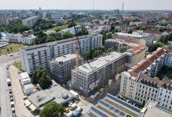 LWB-Baustelle Bernhard-Göring-Straße 17. Foto: Peter Usbeck / LWB
