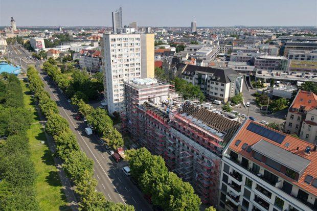 LWB-Baustelle Straße des 18. Oktober. Foto: Peter Usbeck / LWB
