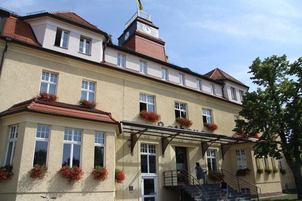 Das Rathaus Markkleeberg. Foto: Matthias Weidemann